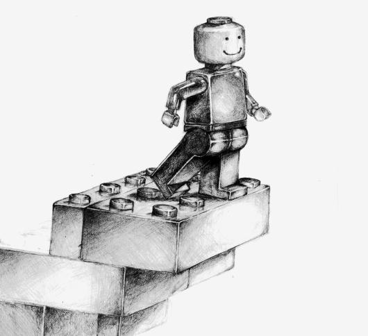 Lego Drawing detail by atmoseraph