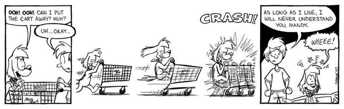 Mandy comic: shopping cart by stevethepocket