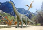 Alamosaurus + Quetzalcoatlus