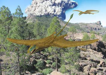 Dimorphodon Volcano by paleopeter