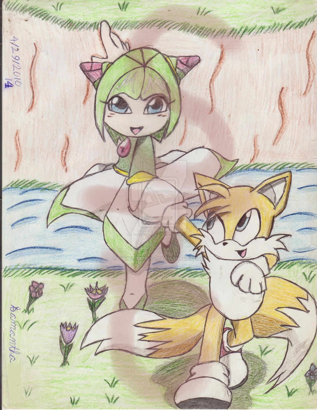 Cosmo and Tails by bumblebeegirl15