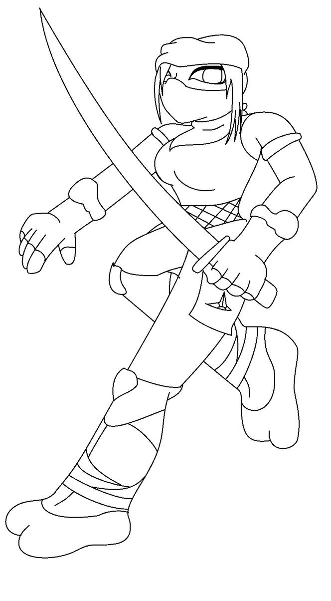 Line Art Ninja : Ninja honey line art by bumblebeegirl on deviantart