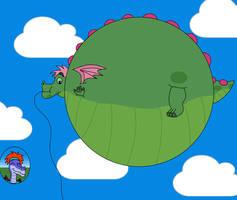 A Huge Dragon Balloon