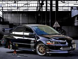 Evo IX Black by Rugy2000