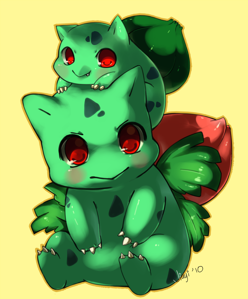 Bulbasaur and Ivysaur by Jiayi