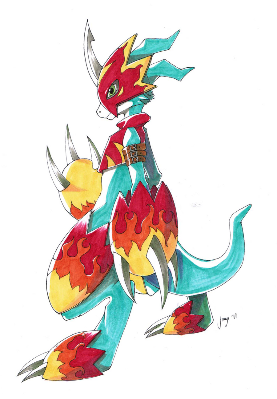 Digimon Flamedramon Fl...