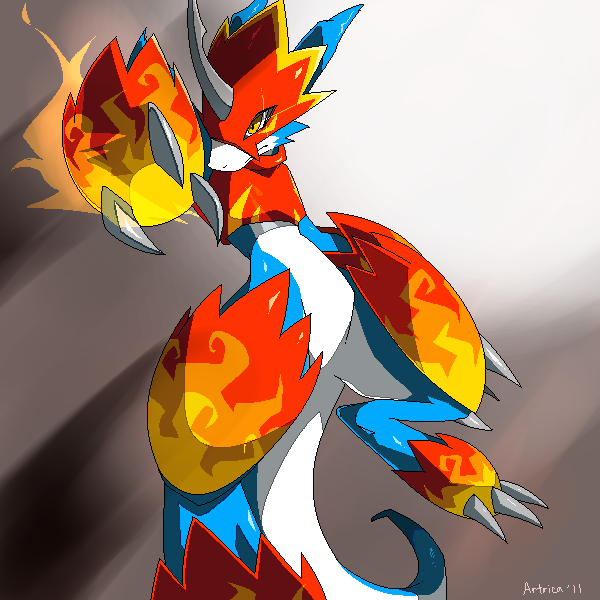 Flamedramon: Fire Rocket by Jiayi