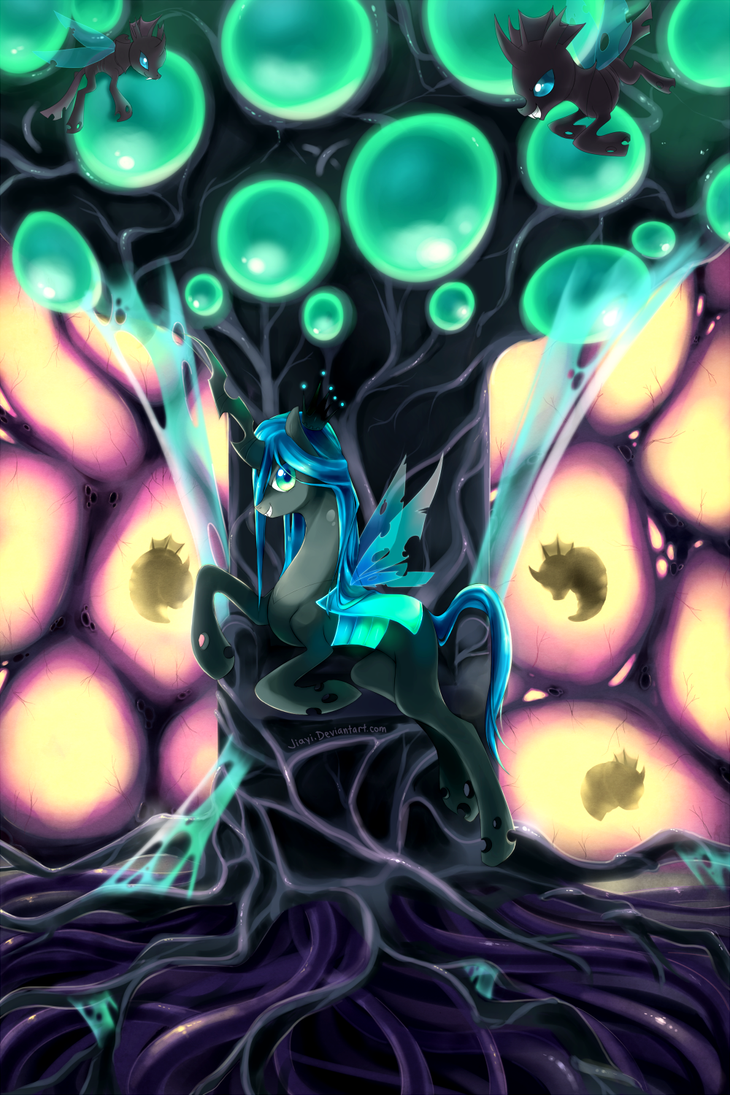 Changeling Queen Chrysalis by Jiayi