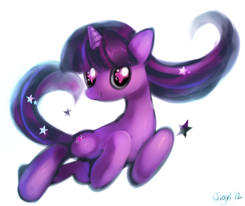 Twilight Sparkle and some stars by Jiayi