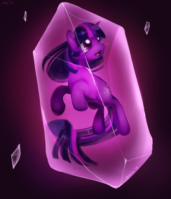 Twilight Sparkle in a Crystal by Jiayi