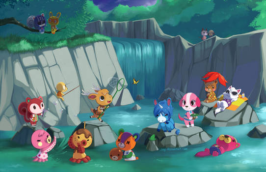 Animal Crossing - Waterfall