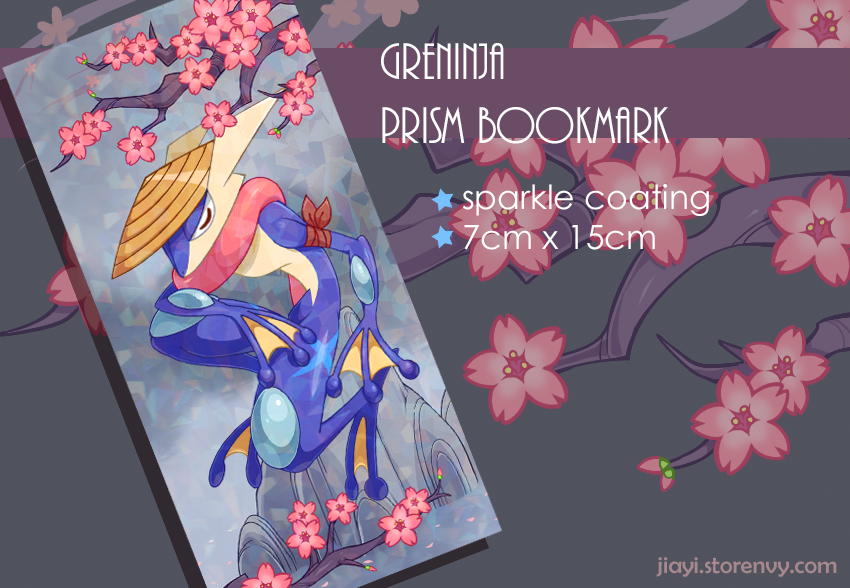 Greninja Bookmark Preview by Jiayi