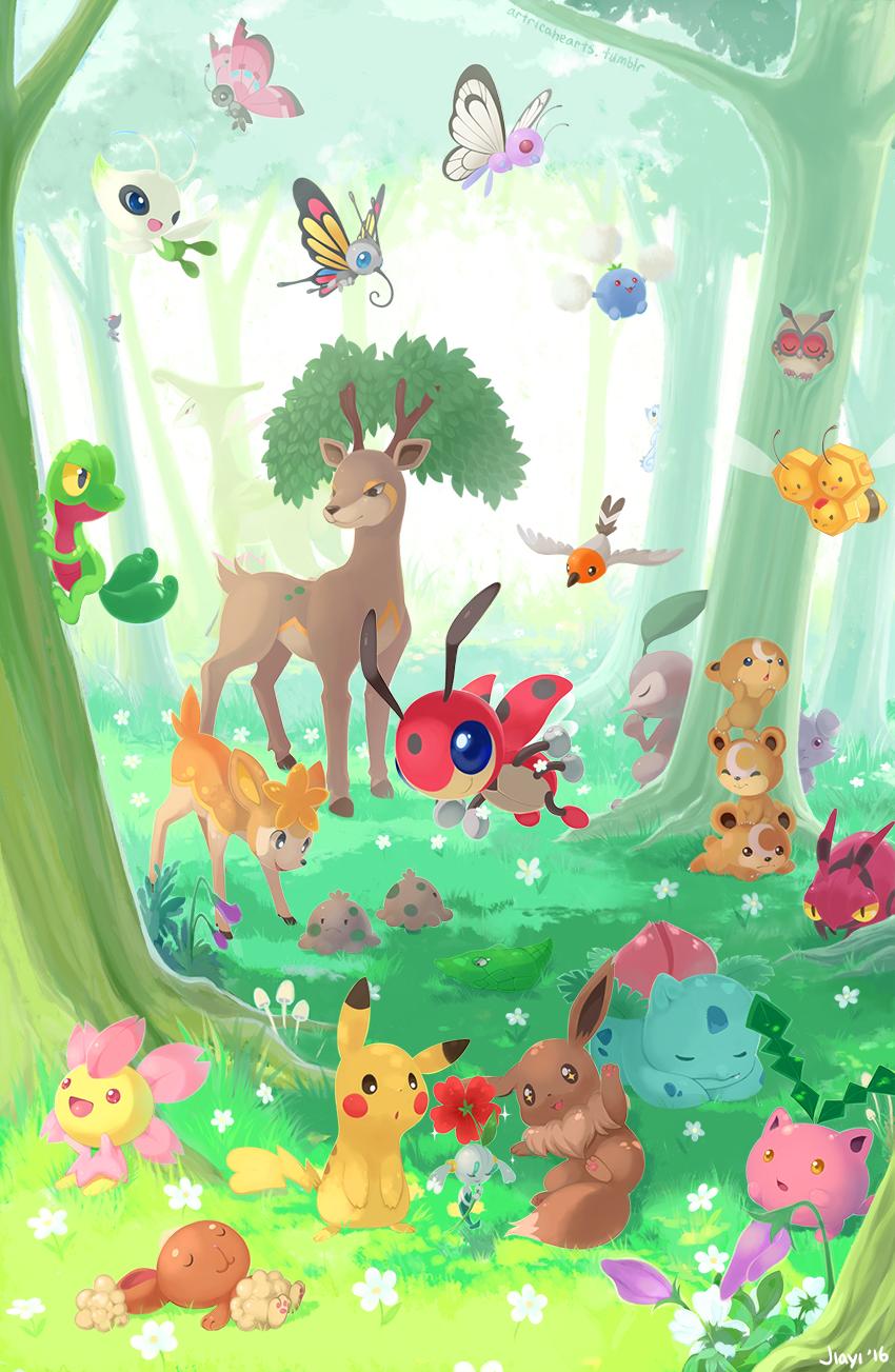 Forest Pokemon by Jiayi