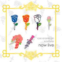 [PROJECT LIVE] rose enamel pin kickstarter!