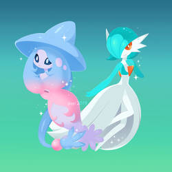 Hatterene And Gardevoir