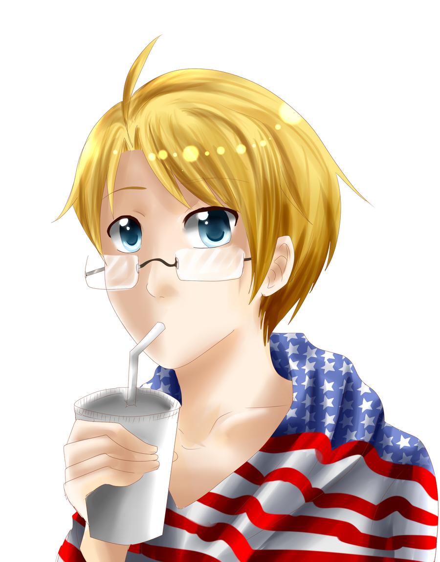 America doodle by Ilovehikarukaoru