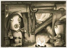 Rabbid Stalker by TRZaraki