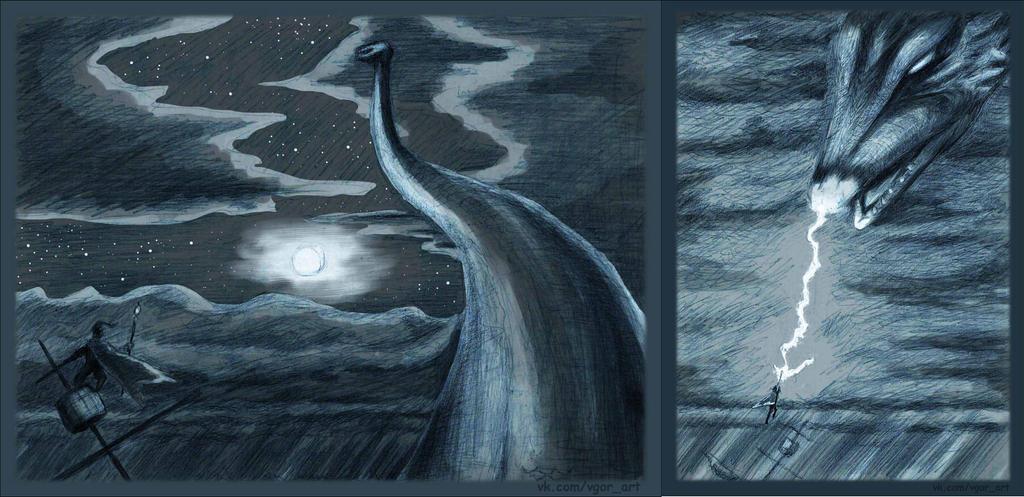 Sea dragon by TRZaraki