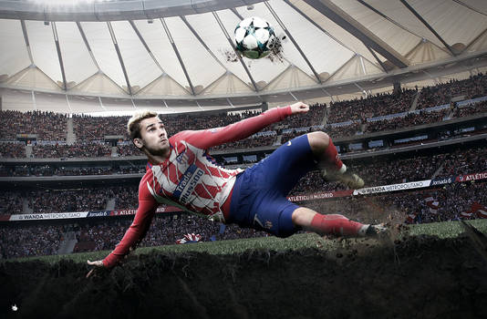 Antoine Griezmann Wallpaper Atletico Madrid 2018 by ArtsGFX99