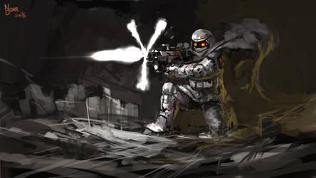 scifi soldier by nukeduke