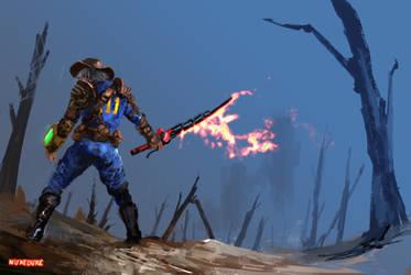 Waste land  swordsman by nukeduke