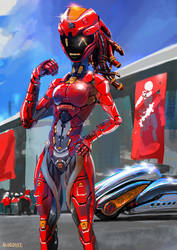 Cyber Race queen by nukeduke