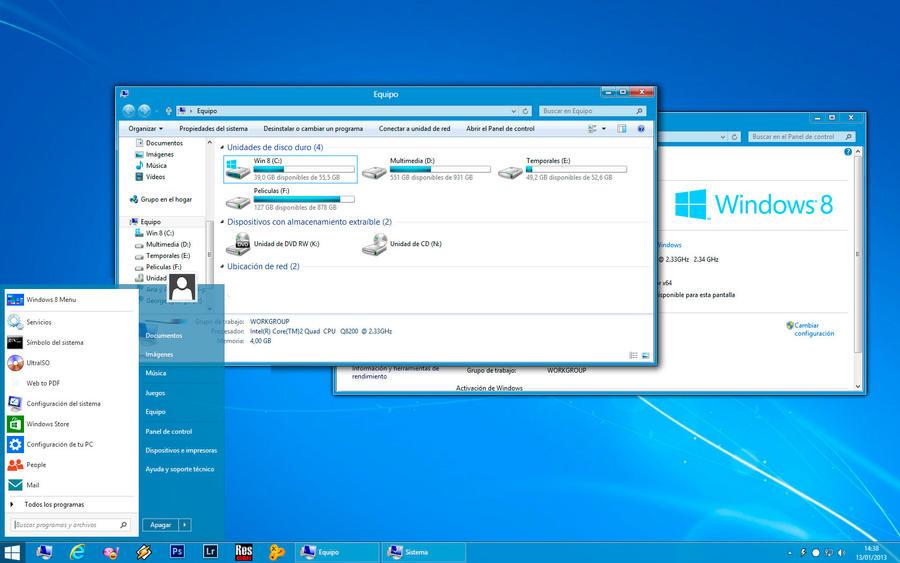 Скачать тему aero 8. 1 / в стиле windows 8. 1 для windows 7.