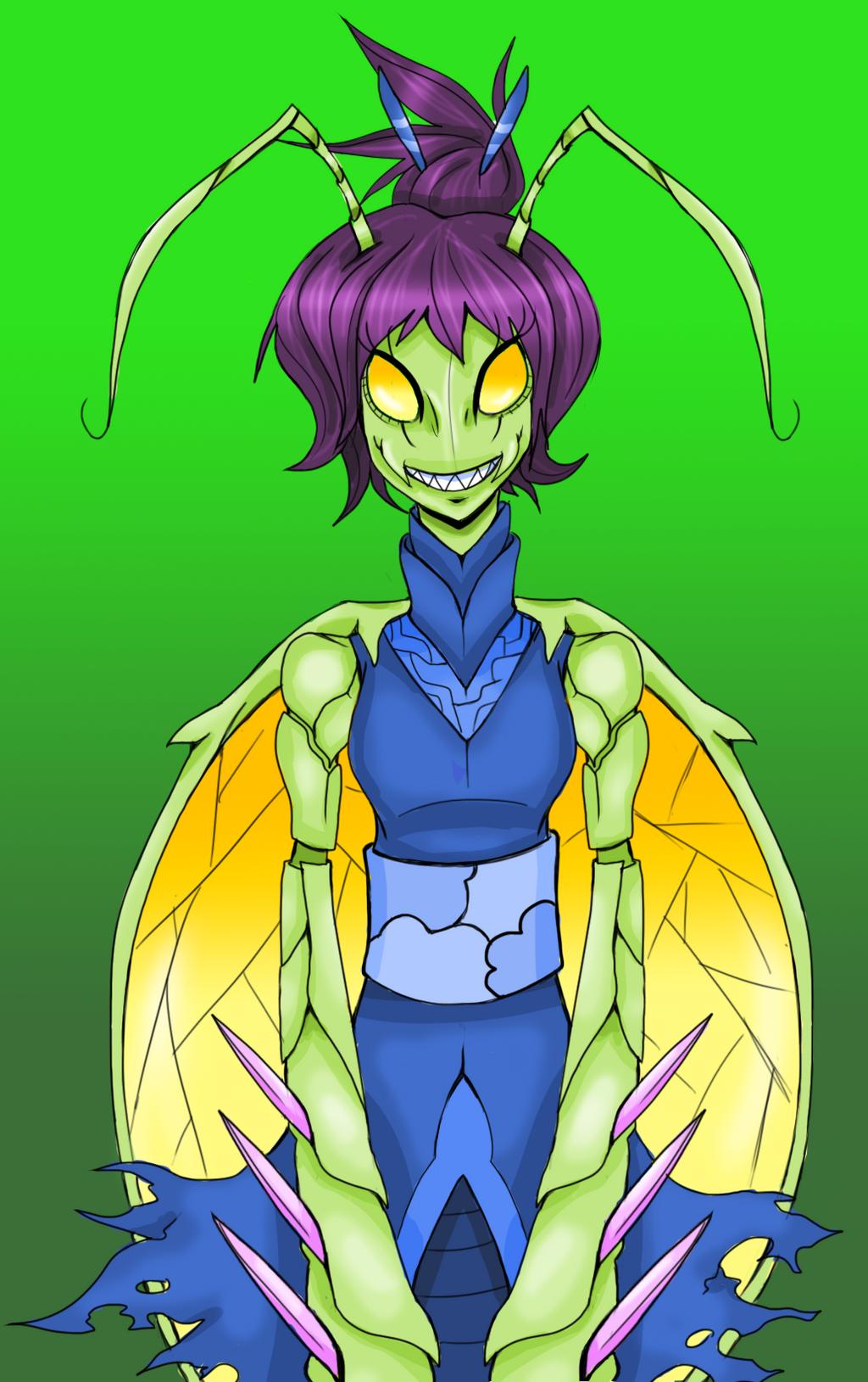 Mantis Lady by Dead-Jackal