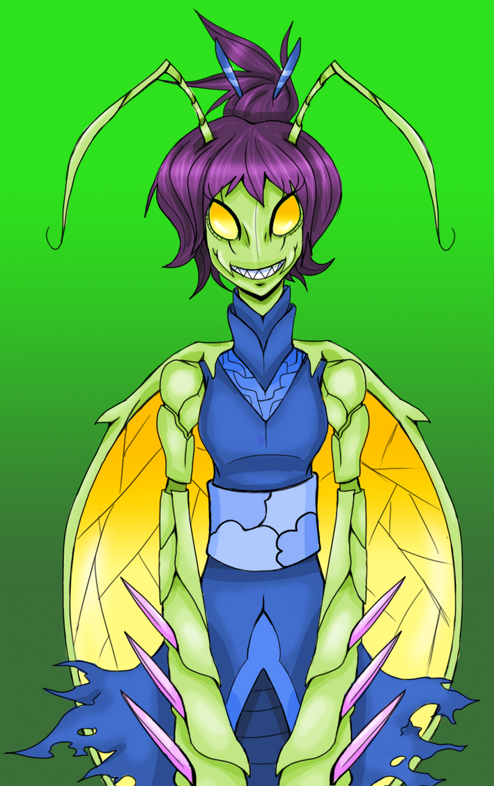 Mantis Lady by Dead-Jackal