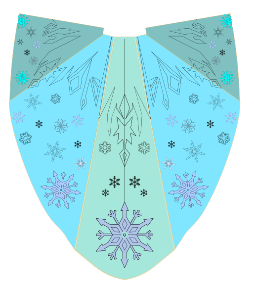 Elsa cape by cosmic empress on deviantart for Cosmic pattern clothing
