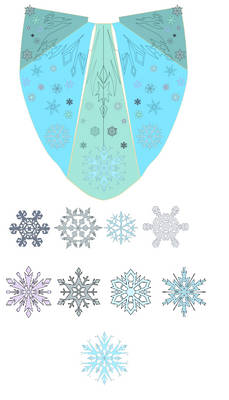 Cape and snowflakes