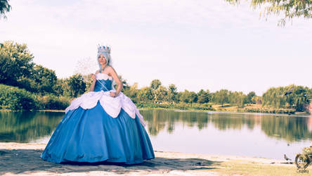 Queen Frostine by the Lake by Cosmic-Empress