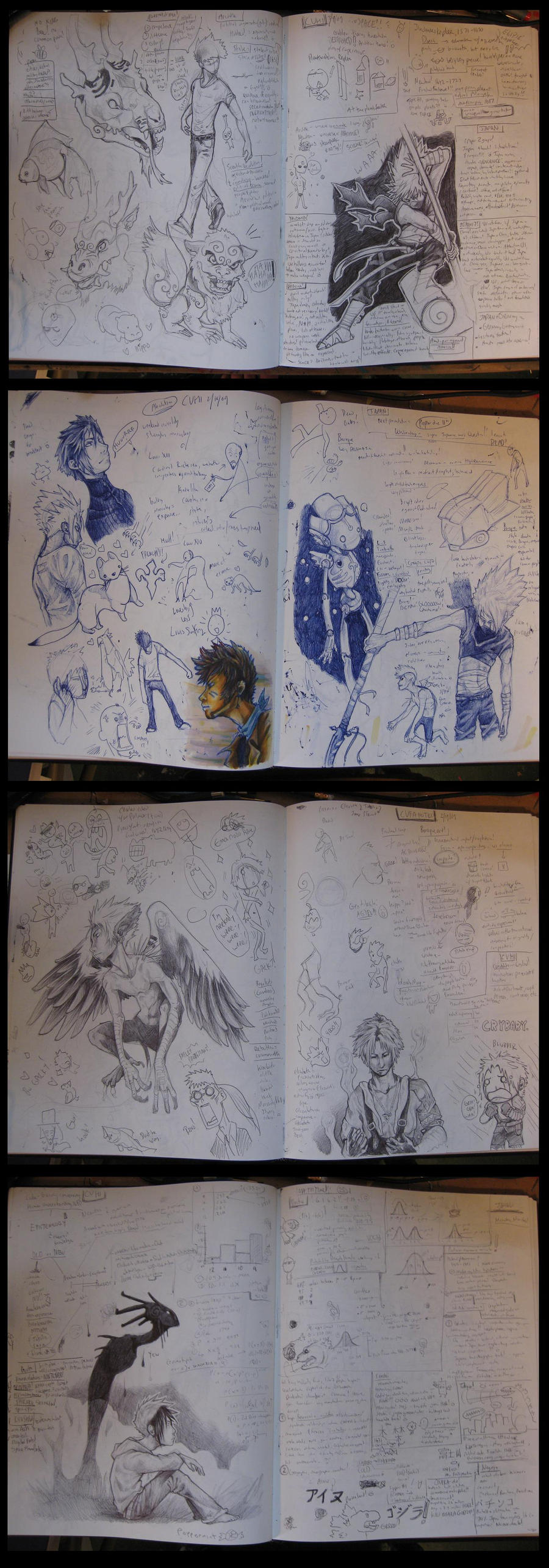 sketchbook pages by EatToast
