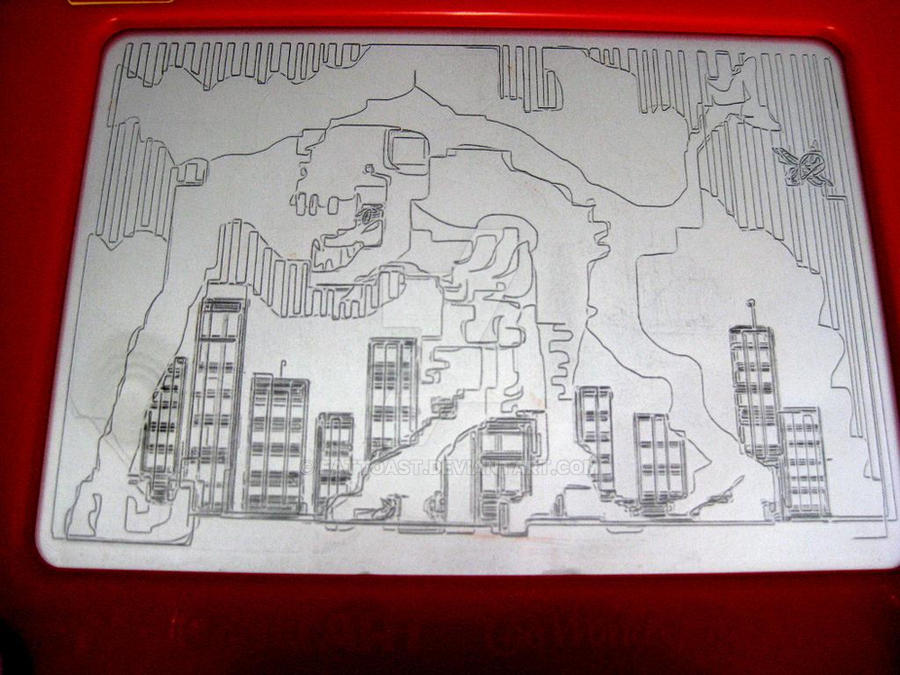 cloverfield etchasketch by EatToast