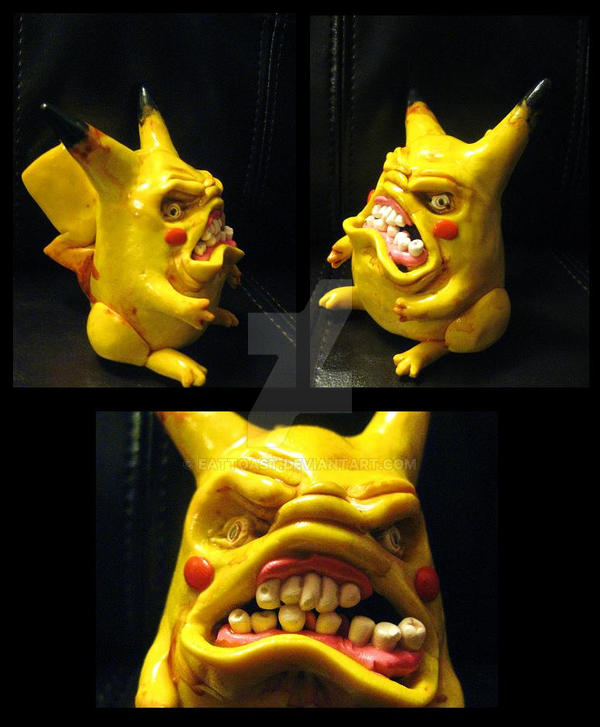 angry pikachu by EatToast