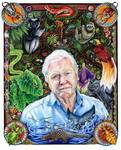 David Attenborough Portrait