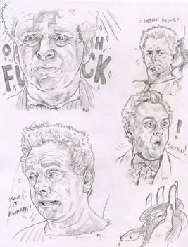 Aziraphale  pencil sketches