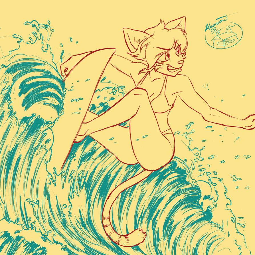Patreon Sketch Reward - MajinKoba August2015 by Kuurion