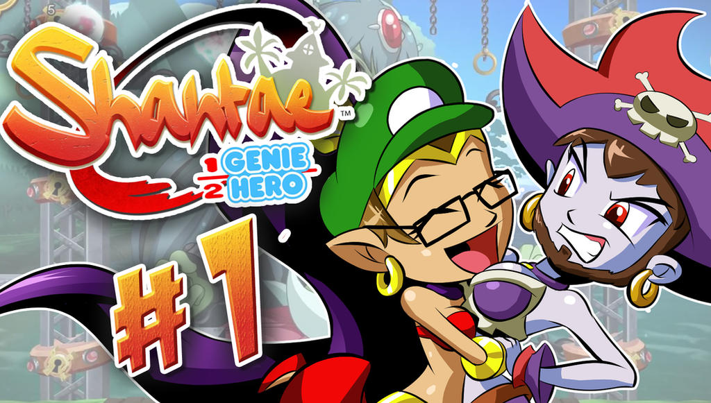 Shantae: 1/2 Genie Hero LetsPlay Thumbnail by Kuurion