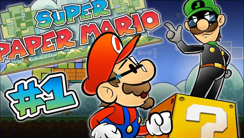 Super Paper Mario LetsPlay Thumbnail by Kuurion