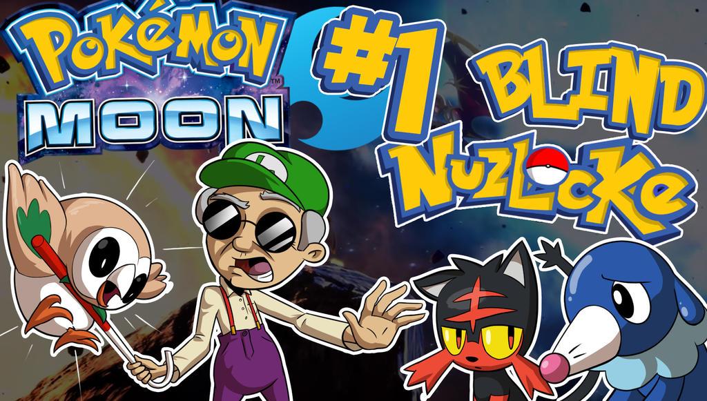 PKMN Moon Super Blind Nuzlocke LetsPlay Thumbnail by Kuurion