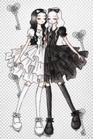 LoliFashion: Shiro_Kuro Lolita by sweet-kaori