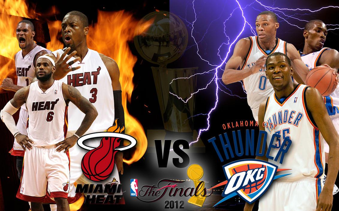 NBA Finals 2012: Miami Heat vs OKC Thunder by hp31308 on DeviantArt