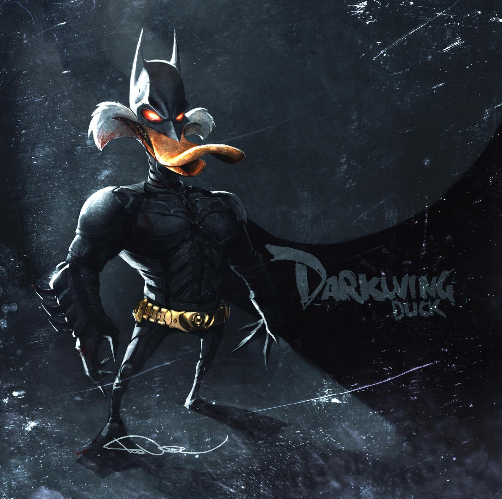 DarkKnightDuck by tooDeee