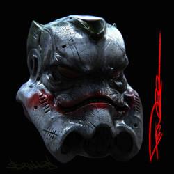 star wars. Joker helmet Stormtrooper by tooDeee