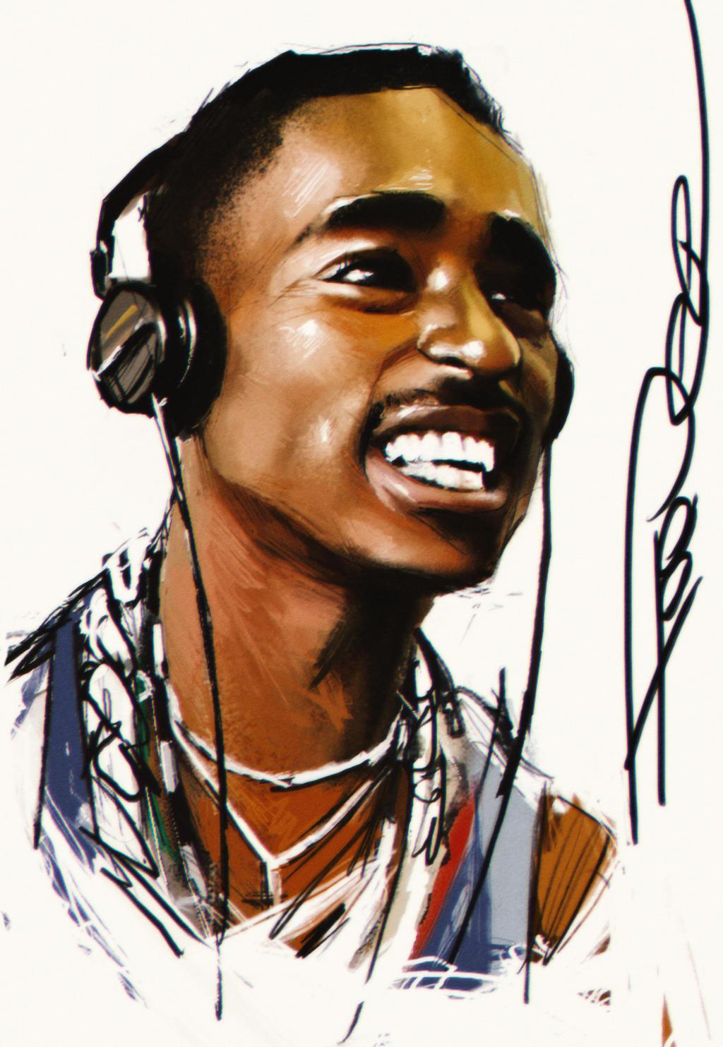 Tupac by tooDeee on DeviantArt