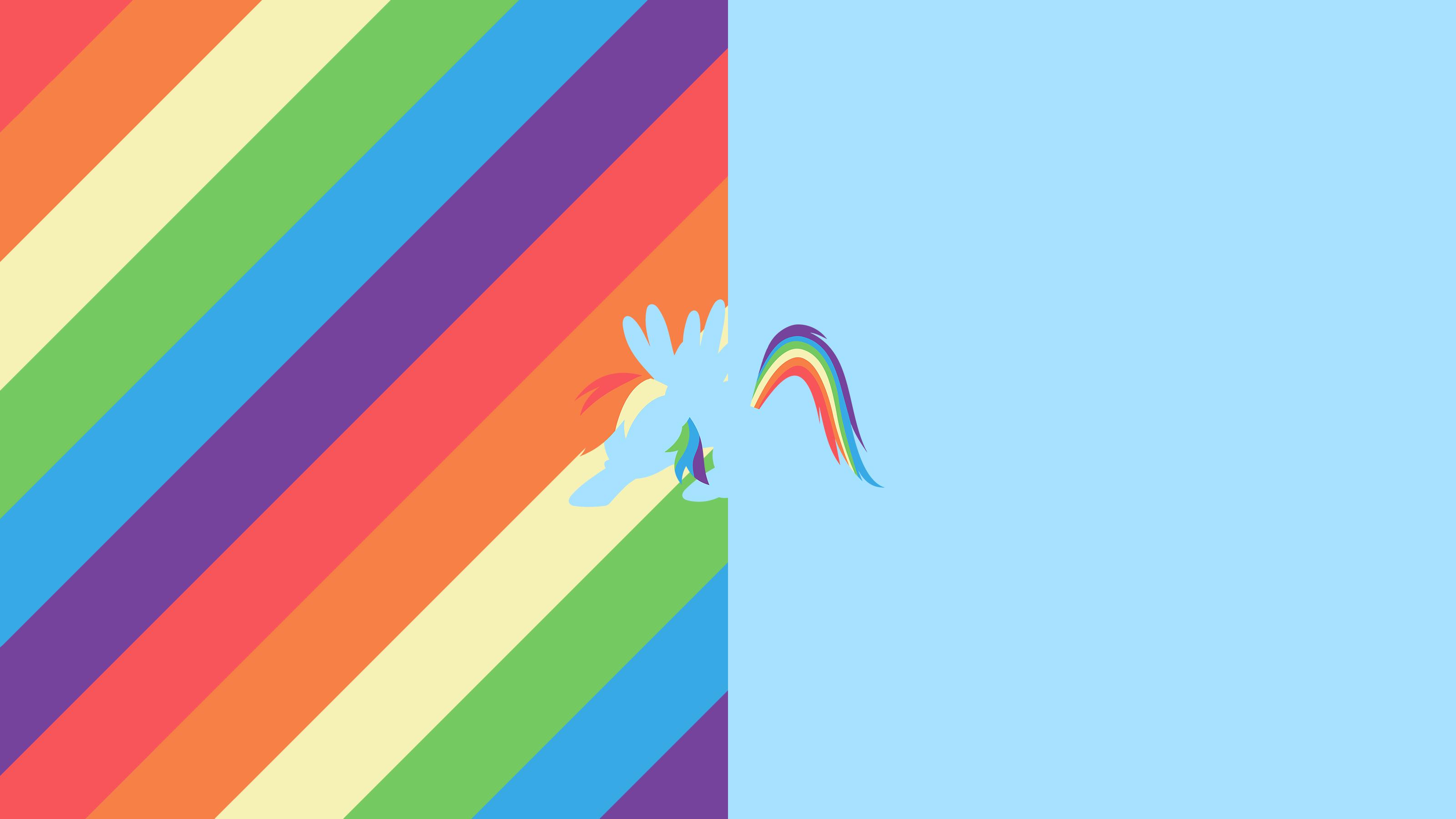 Rainbow Dash Split Minimal Wallpaper by CeruleanDraw on DeviantArt