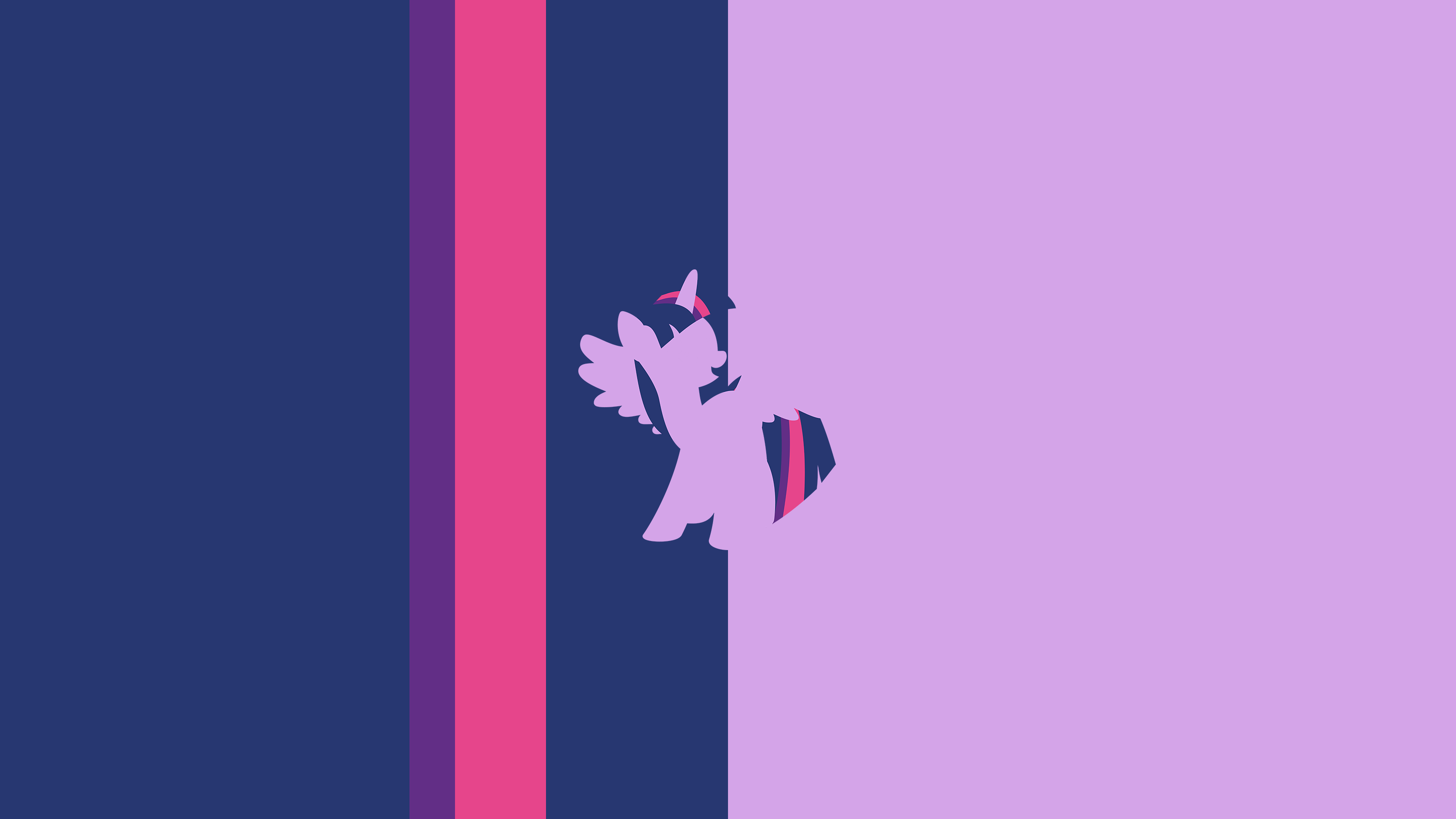 Twilight sparkle split minimal wallpaper by ceruleandraw for Minimal art reddit