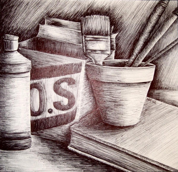 Scribble Drawing Still Life : Scribble line still life by bellafarfalla on deviantart