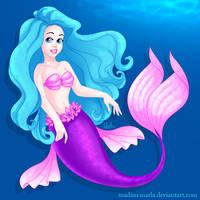 Wall Mermaid Commission by madam-marla